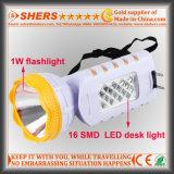 Перезаряжаемые электрофонарь 1W с светильником таблицы 12 SMD СИД (SH-1955A)