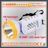 12 SMD LED 테이블 램프 (SH-1955A)를 가진 재충전용 1W 플래쉬 등