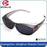 Clip poco costosa di miopia del blocco per grafici viola rigido di vetro su pallavolo protettiva UV di Traving degli occhiali da sole che guida l'obiettivo nero di pesca