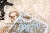 Samsung S5/S6/S7の携帯電話カバーケースのiPhone 5/5s/5c/6/6sのための液体のきらめきの砂の流砂の堅い箱