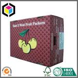 Rectángulo de empaquetado del papel acanalado del color de las cerezas dulces para el plátano