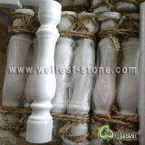 Естественные каменные белые мраморный балюстрада/Baluster с перилами и поручнем