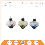 Lâmpada de petróleo de vidro creativa, lâmpada de querosene em cores de Vairous