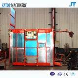単一のケージの構築の起重機1.5tロード建物のエレベーター