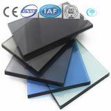 color del gris de 2-19m m/vidrio de flotador teñido/claro para el edificio/la decoración
