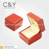 Caja de presentación de encargo personalizada de la joyería del anillo