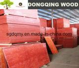 la madera contrachapada de 21m m con la película de Brwon hizo frente a base del álamo