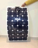 Comitato solare di Sunpower di offerta della fabbrica della Cina/comitato solare semi flessibile per la curva del sistema irregolare del tetto del sistema