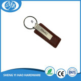 Metal preto Keychain do chapeamento com o cartão do revestimento protetor da impressão