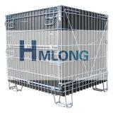 Contenitore/gabbia pieganti della rete metallica del metallo del magazzino con lo strato dei pp