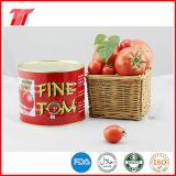 Pasta de tomate enlatada 400g fina orgânica de Tom com alta qualidade