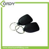 防水125kHz TK4100 EM4200 RFIDスマートな革Keychainのkeyfob