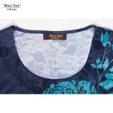 Della sig.na You Ailinna 304707 di prezzi del jacquard dal cotone del vestito dal distributore vestito floreale in rilievo basso lungamente