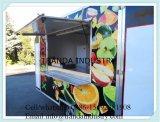 Neue 8.5 x 24 beiliegende Nahrung, die mobilen Küche-Zugeständnis-Lebesmittelanschaffung-Schlussteil Vending ist