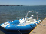 Aqualand 14feet 4.2m Rigid Inflatable Motor BoatかRib Rescue Boat (RIB420B)