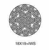 비 자전 점 접촉 철강선 밧줄 18*19s+Iws