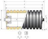 De bulk Rol van de Transportband van de Ring van de Rol van het Effect van de Materiële Behandeling Rubber