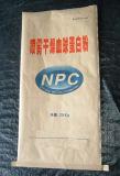 Bolsa de papel abierta cosida alta calidad de Kraft de la boca con la insignia de Customed