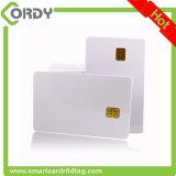 Cartão de memória em branco do contato CI do PVC do branco com a microplaqueta Sle4442/sle5542