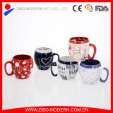Farbiges Glaze Ceramic Mug mit Custom Design