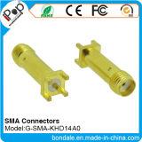 Connecteur coaxial de connecteurs de SMA Khd14A0 pour le connecteur de SMA