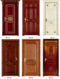 Porte en bois solide 2016 avec le type de qualité et de tubulure