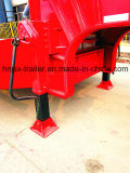 3 essieux exposés au pneu Special Lowbed / Low Deck / Low Loader Cargo Semi Truck Trailer for Crane ou Vehicle for Sale