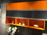 Armadio da cucina moderno unito colore luminoso della lacca di alta lucentezza