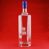 Botellas de vino estupendas del vidrio de pedernal de la botella de lujo de la vodka de las botellas de cristal del fabricante 750ml 1000ml 1750ml