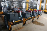 1 Tonnen-doppelte Trommel-Vibrationsstraßen-Rollen-Vibrationsverdichtungsgerät Yz1