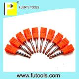 2 Flöte-Hartmetall-Punkt-Bohrmeißel für Metallbohrung