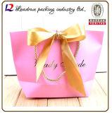 Мешок упаковки бумажной несущей печати мешка подарка покупкы бумаги Kraft (F60)