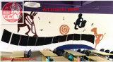Painel de teto decorativo 100% do painel de parede do painel acústico da arte ambiental