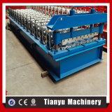 El panel de acero del metal del azulejo de azotea del hierro que hace el rodillo que forma la máquina