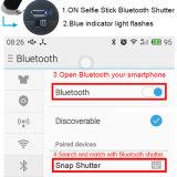 Foldable Clip Aluminium Built-in Bluetooth Selfie Stick para celular