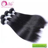 Armure noire normale de cheveux humains de Vierge de Dora d'extensions indiennes crues de cheveu