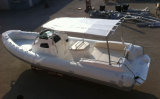 Barca gonfiabile della nervatura della baracca di pesca della vetroresina della nervatura di Liya 27FT Cina (HYP830)