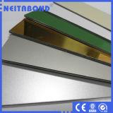 el panel compuesto de aluminio de madera 3D para la fachada del edificio
