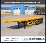 Hete Verkoop 3 Aanhangwagen van de Container van Assen 40FT Flatbed Semi