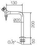 Accessoires de laboratoire, robinet à un seul essai (WJH0211D)