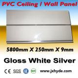 matériau imperméable à l'eau lustré de Builing de panneau de mur de salle de bains de panneau de mur de PVC de blanc de 6/7/8/9*200mm