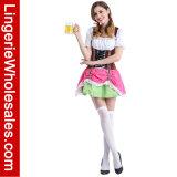 Deluxe Halloween-Partei-schnüren sich Schweizer Bier-Mädchen oben Cosplay Kleid-Kostüm
