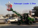 Carregador telescópico quente da maquinaria de construção Hy2500 da venda