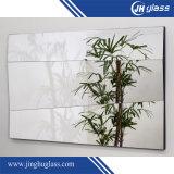 Miroir argenté rectifiant décoratif, miroirs légers de salle de bains