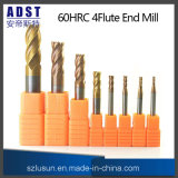 62HRC 4flute Tungsten Steel End Mill para máquina CNC