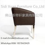 中国の製造者のホテルのホーム家具のための椅子を食事する光沢度の高い革ステンレス鋼フレーム