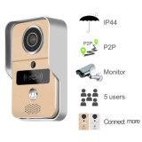 El sistema de intercomunicación visual sin hilos del monitor de las cámaras de seguridad del hogar del timbre del intercomunicador con tiene la alarma y funciones teledirigidas