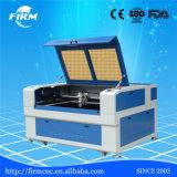 Máquina de acrílico de madera del laser del CO2 del CNC del corte del grabado del MDF del papel de cuero