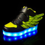 OEMをカスタマイズする子供LEDの靴、子供のための高い上LEDの靴のスニーカーを受け入れなさい