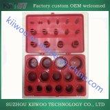 Jogo vermelho da variedade do anel-O de Mertic da borracha de silicone da caixa